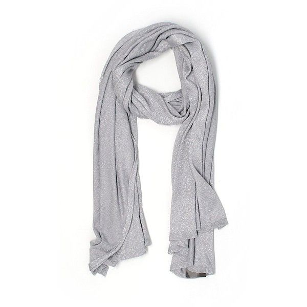 Zara Scarf ($16) ❤ liked on Polyvore featuring accessories, scarves, grey, metallic scarves, metallic shawl, grey scarves, grey shawl and gray shawl
