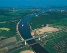 vista aérea do canal de kiel