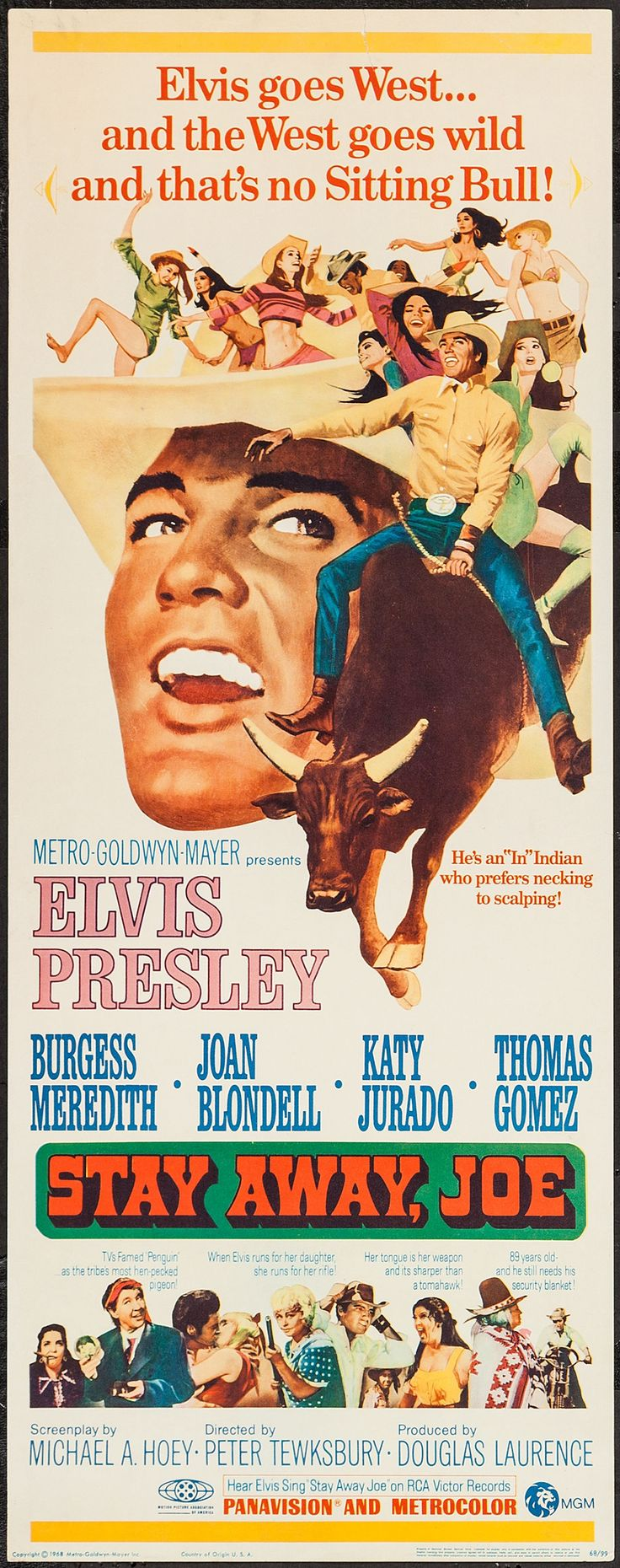 Stay Away, Joe (1968) Stars: Elvis Presley, Burgess Meredith, Joan Blondell…