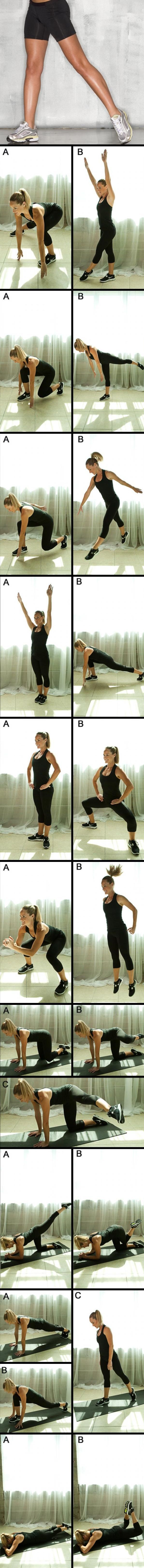 Top 10 Moves 4 Thinner Thighs - For best results, perform 15 reps of each move, back to back without rest, up to four days a week. And be sure to couple your lower-body workouts with cardio exercise and a healthy diet to stay slim and trim for good. Want to boost your burn? Try adding a set of 5-10 pound dumbbells to some of the strength moves for more of a challenge.