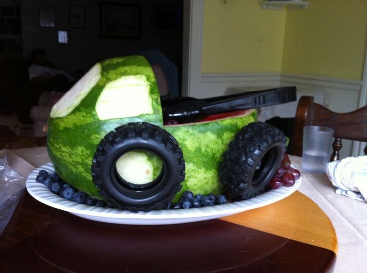 Monster Truck Watermelon Birthday Or Party Pinterest