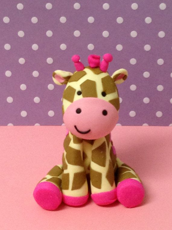 Jungle Gill Giraffe Cake topper by Paolascreations on Etsy, $35.00