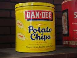 Vintage Dan-Dee Potato Chip Can Canister.