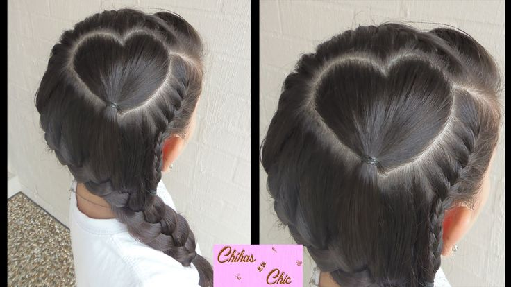 Perfect heart with braid!   Valentine's Day Hairstyles   Chikas Chic