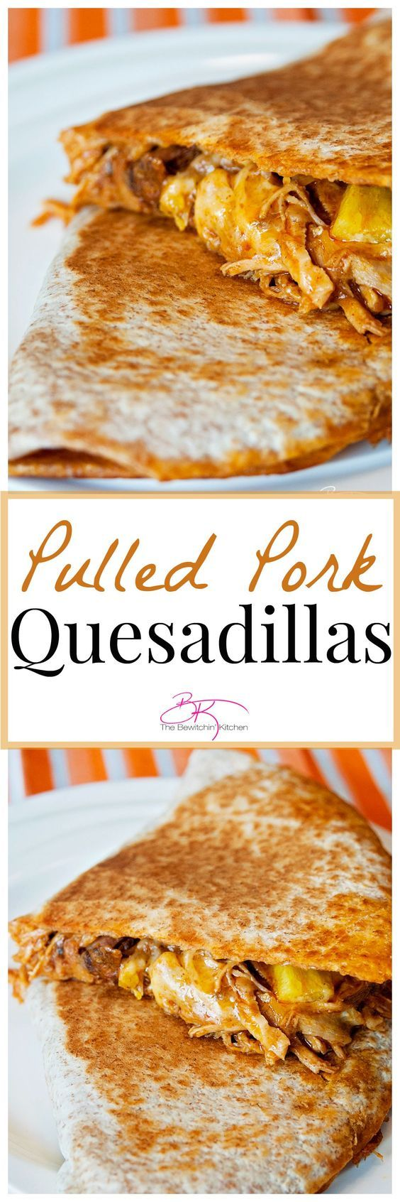 Pulled pork quesadillas. A delicious slow cooker recipe made with a mexican twist! | The Bewitchin' Kitchen