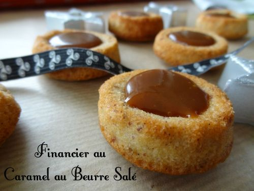 financier caramel beurre salé - cuisineaubeurresale