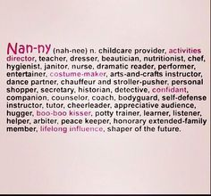 being a nanny quotes - Google Search