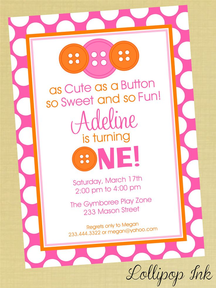 239 best Invitations Templates by finestpartyinvitations – Girl Birthday Invitation Templates
