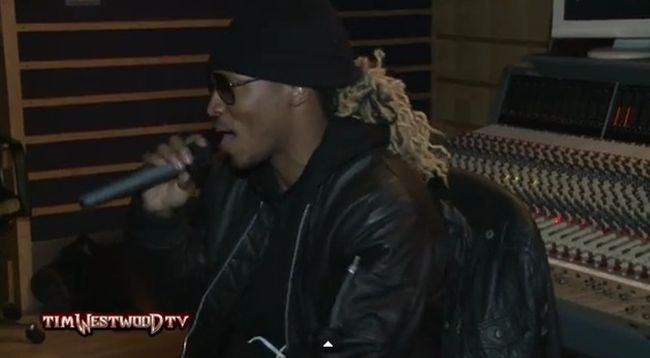 [Watch] Future 'Tim Westwood' Freestyle #Getmybuzzup- http://getmybuzzup.com/wp-content/uploads/2014/02/Westwood-Future-exclusive-freestyle.jpg- http://getmybuzzup.com/future-tim-westwood-freestyle/- Future 'Tim Westwood' Freestyle ByAmber B Future's currently overseas and like any smart artist would, he stopped by Tim Westwood's show and kicked us a new freestyle. The auto-tuned rapper played some of his hits and then kicked us some fresh rhymes.  Follow me:G