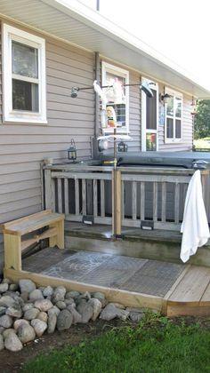 Outdoor Shower On Deck