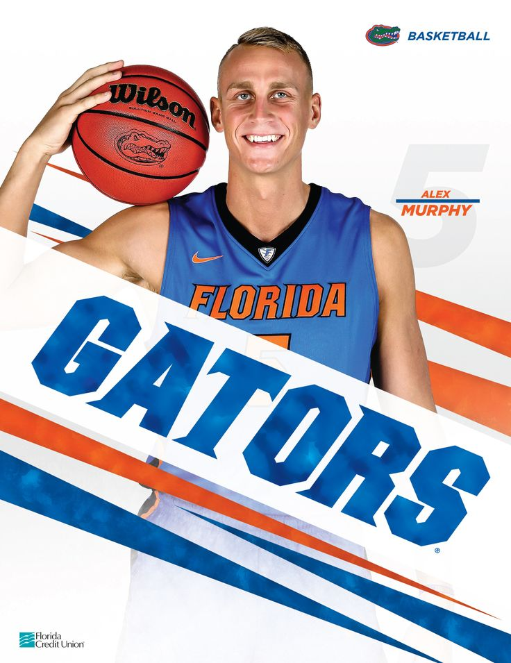 The official 2015-16 Florida Gators Men's Basketball Roster Card vs. Vanderbilt, available exclusively at the Stephen C. O'Connell Center on February 23, 2016, features Alex Murphy. @floridagators @uflorida #ItsGreatUF #GoGators