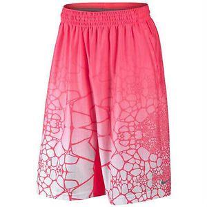 Estos pantalones cortos de basqutebol. Estos pantelones cortos rosas y blancas. Quiero estos pantelones cortos en mi partido de basquetbol. Pienso estos pantalones cortos es muy guapos. Puedes llevar los pantalones cortos con la camiseta blanco y los zapatos blancos.