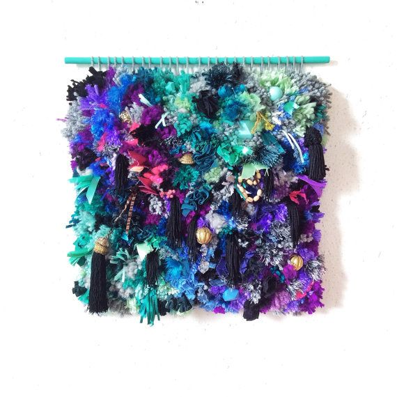 Handwoven Tapestry Furry Sea Treasures by jujujust on Etsy