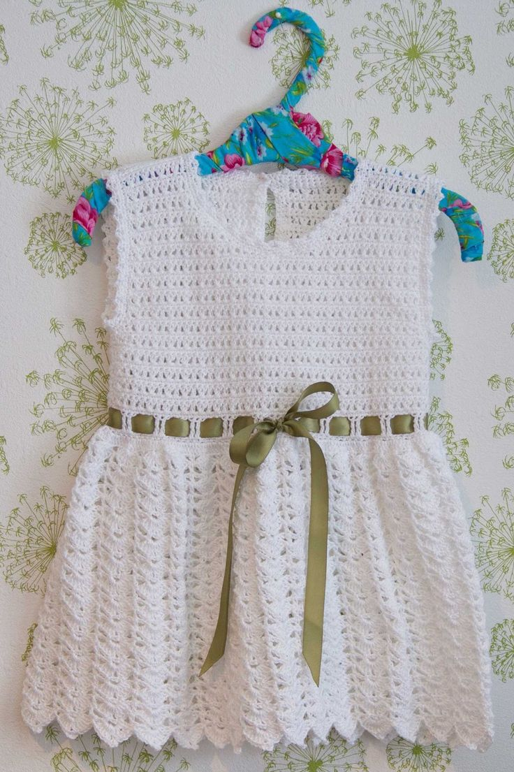 virkad klänning baby