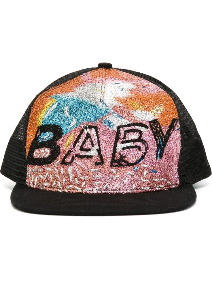 Saint Laurent Baby Artwork Trucker Hat Baseball Cap