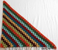 Tina's handicraft : Diagonal Granny Stripe Afghan Tutorial