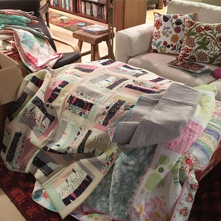 Brought a huge box of quilts over to my momshellip