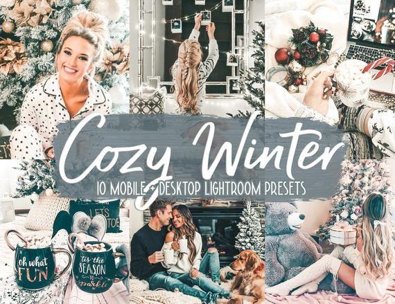 10 Lightroom Mobile Presets Cozy Home Winter Snow Modern Etsy Winter Presets Presets Lightroom