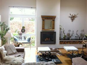 Woodlands living room in Farrow & Ball Cornforth White