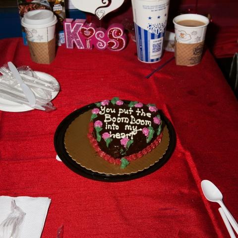 Valentine's Day cake at White Castle in Williamsburg, Brooklyn