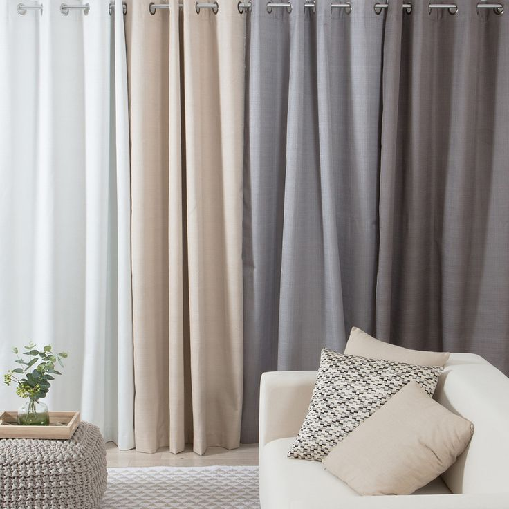 Add a contemporary look to your home with the Muse Bromley curtain range. Featuring a textured base, these eyelet block out curtains are available in range of neutral colours suitable for both light and dark décor.