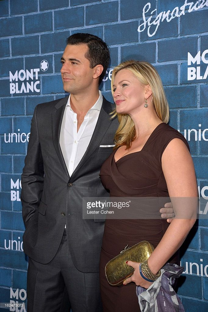 Darius Campbell and Natasha Henstridge attend a Pre-Oscar charity brunch hosted by Montblanc and UNICEF to celebrate the launch of their new 'Signature For Good 2013' Initiative with special guest Hilary Swank at Hotel Bel-Air on February 23, 2013 in Los Angeles, California.