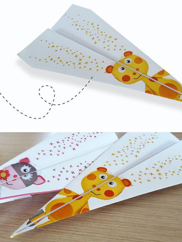 Diy avion en papier #onjoueavecwesco pour faire des courses d'avions pour un #anniversaire