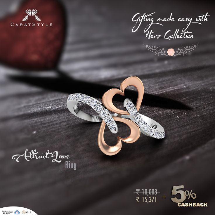 The perfect gifting for hearts on fire..! #diamond #gold #fashion #giftsforher #jewelry #india #shopping
