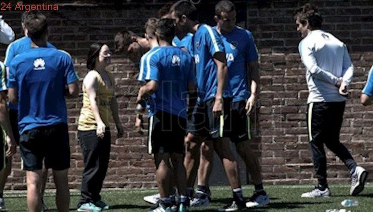 Boca se entrenó sin seis titulares de cara al amistoso del sábado ante Los Andes