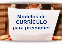 10 Modelos de Currículo para Baixar preencher