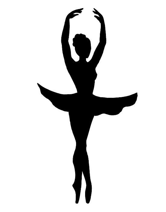 Graceful Ballerina Silhouette'