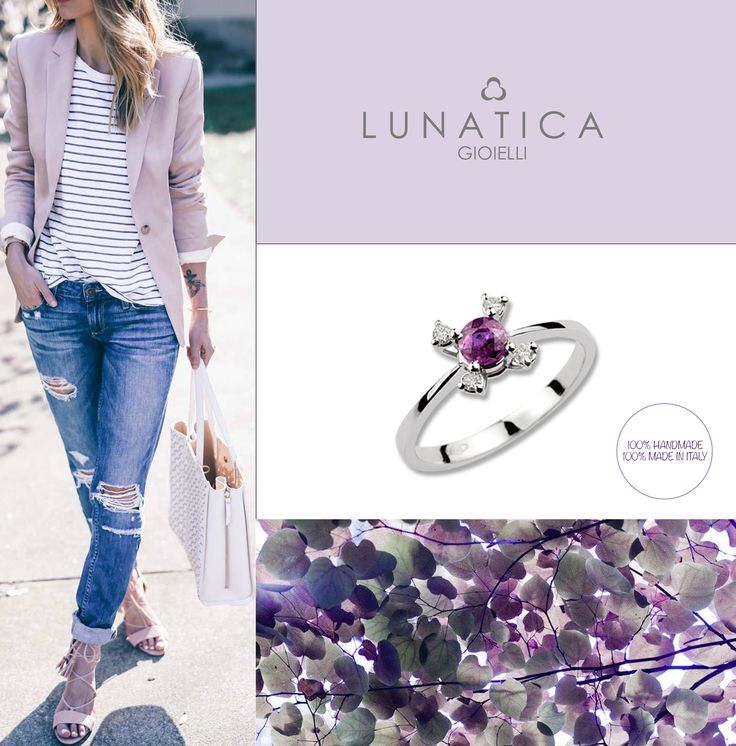 #lunatica #lunaticagioielli #roma #madeinitaly #handmade #italianstyle #style #fashion #vibes #mood #fashion #fashionista #outfit #composit #gioielli #jewellery #jewelry #whitegold #gold #18kt #ametista #amethyst #violet #lavender #lavanda #girl #jeans #ring #bling #diamonds #pure #precious #classic #wantit #colors #trend #loveit
