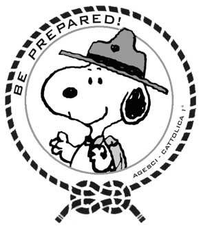 disegno snoopy scout di Cattolica
