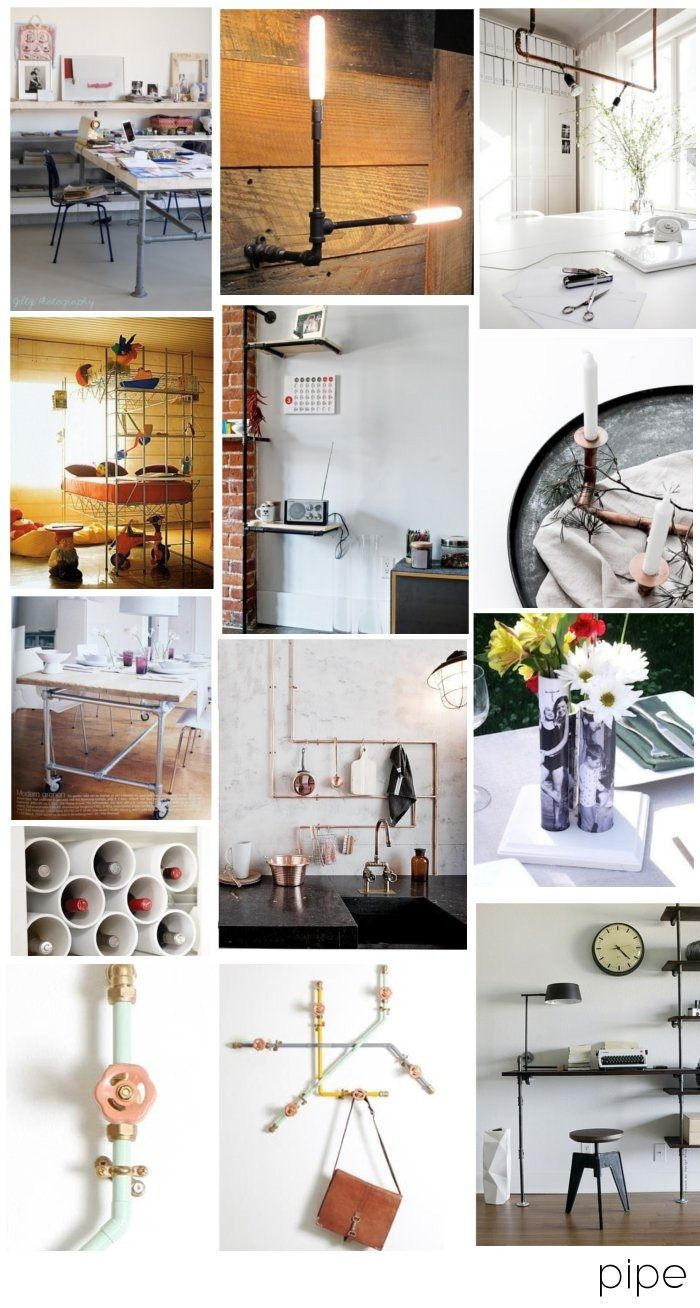 DIY pipe inspiration - ways to incorporate a hardware store material in your decor