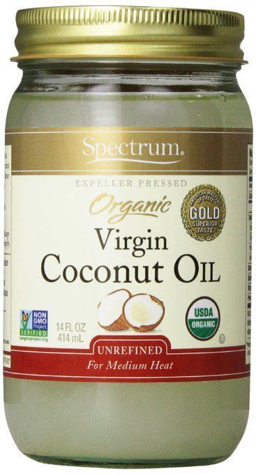 Spectrum Organic Coconut Oil, Unrefined, 14 oz 1. Use as a hair treatment 2. Use to moisturize your skin 3. Use to remove your eye makeup 4. Mix with baking soda to make a facial scrub 5. Use instead of shaving cream 6. Eat a spoonful a day or every so often for health benefits 7. Dab under your eyes to prevent wrinkles 8. Reduce visibility of stretch marks 9. Helps strengthen nails 10. Put some in your bath for a moisturizing bath