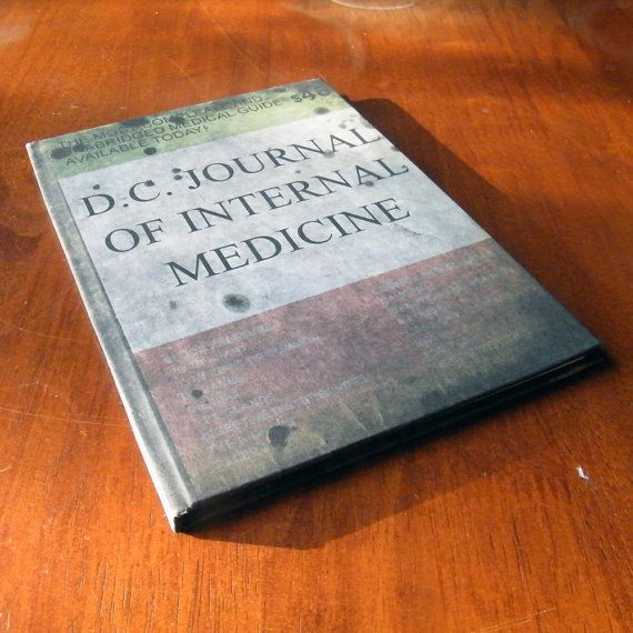 DC Journal of Internal Medicine A5 Notebook by Chanced1 on Etsy