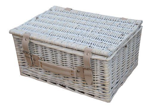 "Provence White Wash Wicker Picnic Hamper Basket - Storage Trunk 16"" Shabby Chic by Katie Jane HOME, http://www.amazon.co.uk/dp/B008I4YW04/ref=cm_sw_r_pi_dp_J-zZsb11BPY2Z"