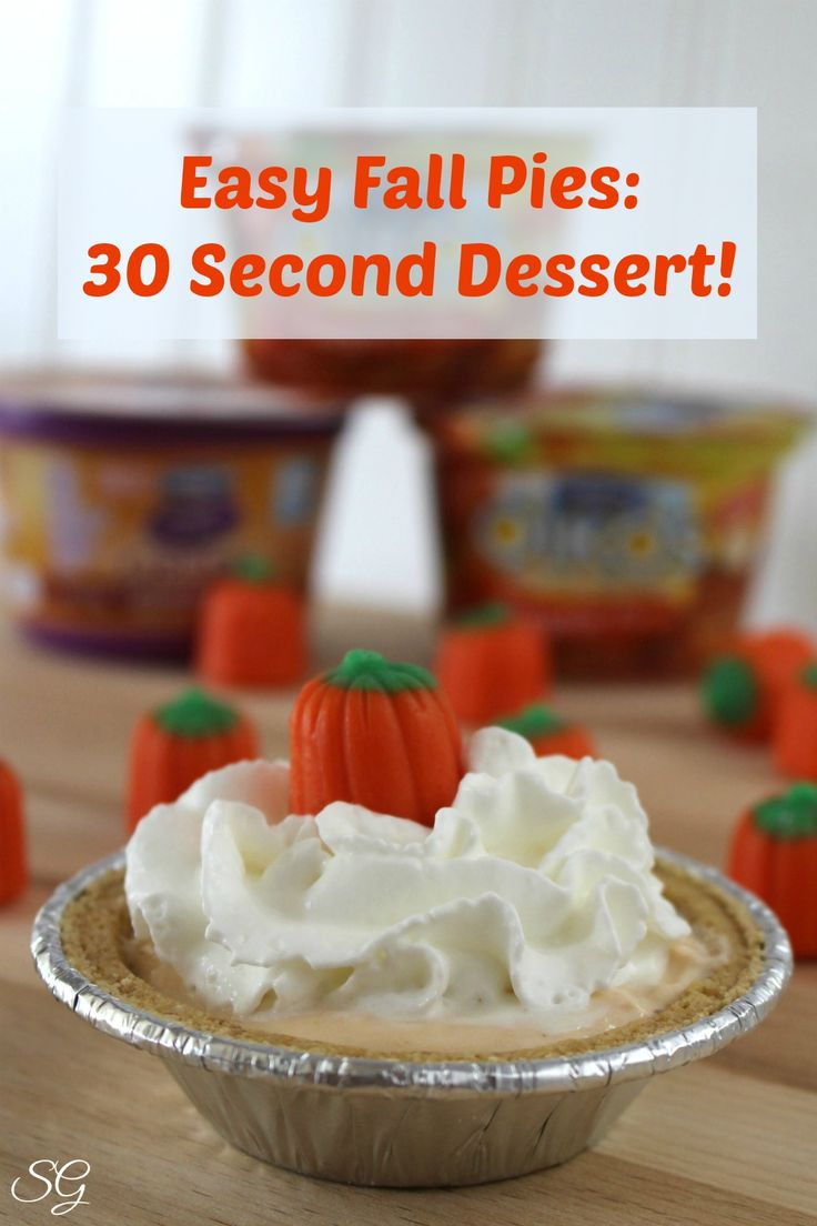 Easy Fall Kids Crafts That Anyone Can Make: Easy Fall Pies: Dessert In 30 Seconds!