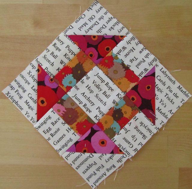 Like printed background fabric with bright Kaffe Fassett fabric