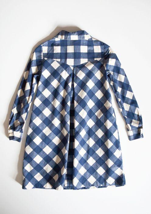 blue checks: Chelsea Clothes, Vintage Cotton, Girl, Childrenswear Brand, Etsy, Blouse, Vintage Dresses, Baby, 70S Patterns