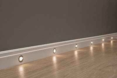 Recessed lights illuminating the hallway instead of a plugged-in nite light.
