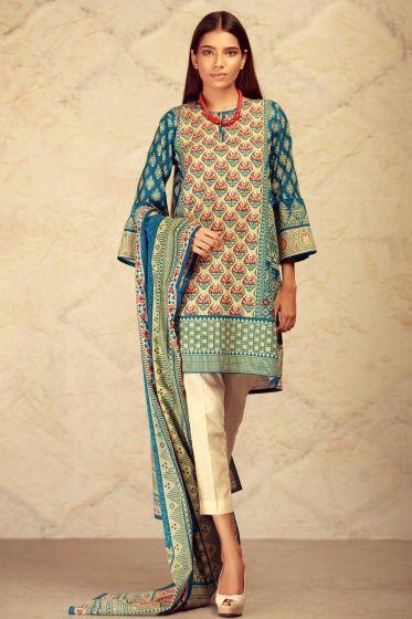 acb710c88c Khaadi-Printed-Khaddar-Winter-Vol-1-Unstitched -2-Piece-Suit-KL17603-in-Blue%uFEFF