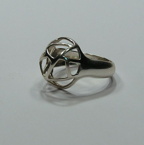 Air Ring in Solid silver with cataforetic plated di BOTTAGIOIELLI