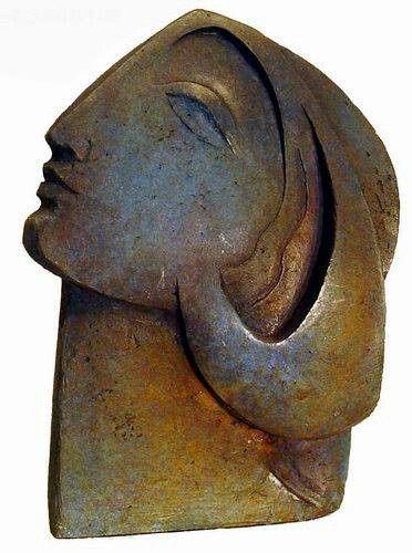 'Selene' - Bronze sculpture by Spanish artist Montserrat Faura (b. 1947)