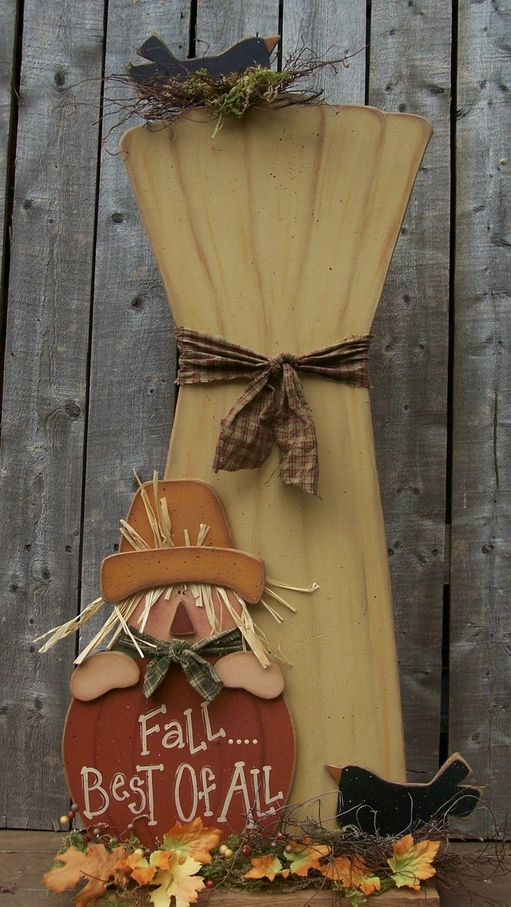 Primitive fall wood crafts - So Cute Halloween Fall Craftsthanksgiving