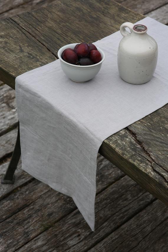 Linen Table Runner Wedding Table Runner Table Runner Dining