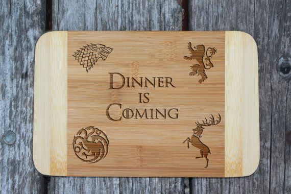 Game of Thrones cutting board Dinner is coming by WoodLabMoldova