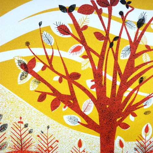 Autumn Leaf - Hand pulled screen print, 3 colours £35.00