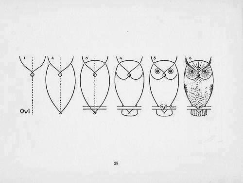 how to draw owl