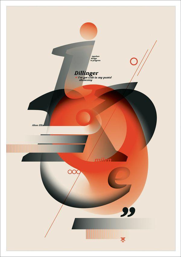 Typographic posters by Áron Jancsó, via Behance